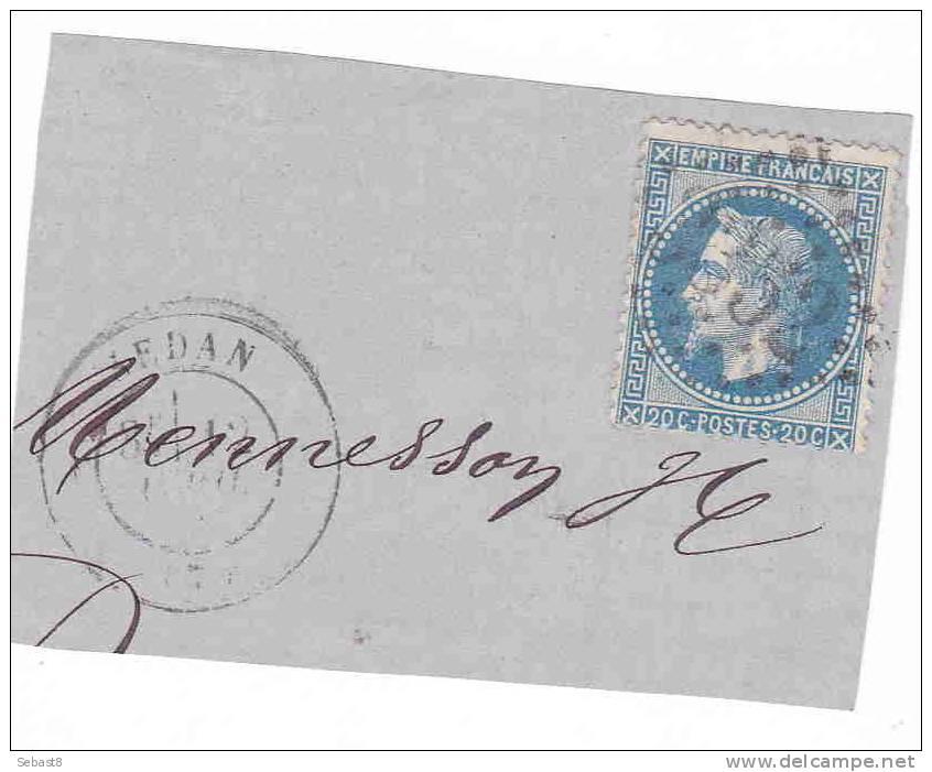 SEDAN 3352 SUR FRAGMENT - 1863-1870 Napoleon III With Laurels