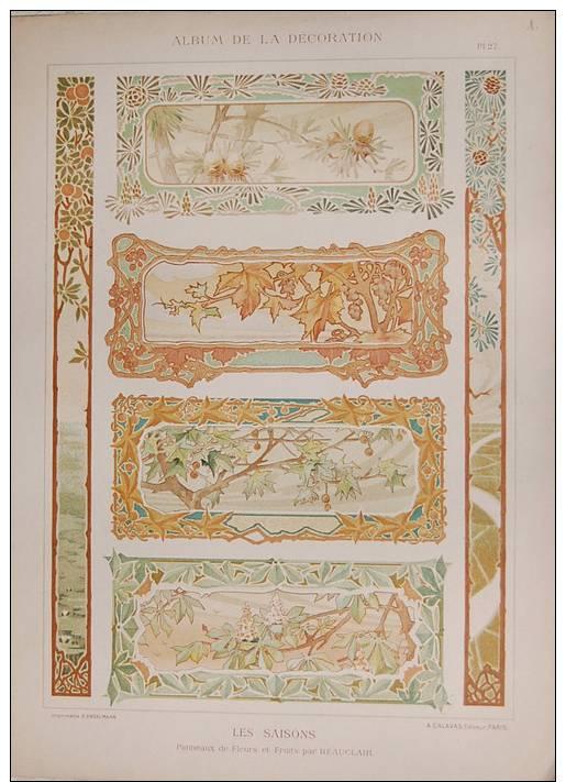 Cromolitografie del 1920 album de la decoration for Album de la decoration