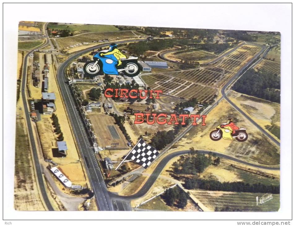 CPM  - 72 Sarthe - LE MANS - Le Circuit Bugatti, Lieu D'essais Et De Compétitions - Motorbikes