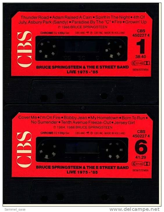 2 X Musikcasetten (MC)  Bruce Springsteen & The E Street Band - Live / 1975-85 CBS (1984) - Audiokassetten