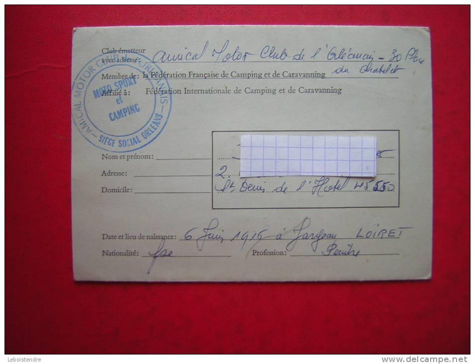 CARNET CAMPING INTERNATIONAL  DELIVRE PAR FEDERATION FRANCAISE DE CCAMPING ET DE CARAVANNING 1972 1973 1974 1975 1976 - Camping