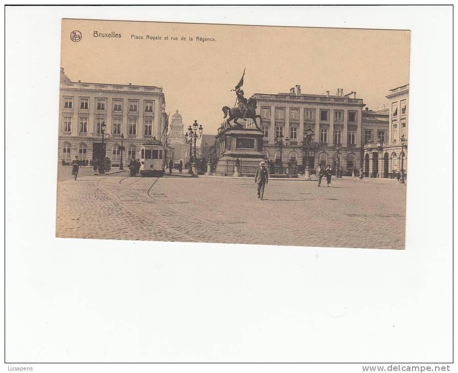 BELGIQUE BELGIUM - [OF #12320] - BRUXELLES BRUSSELS - PLACE ROYAL ET RUE DE LA REGENCE - TRAM TRAMWAY - Belgien