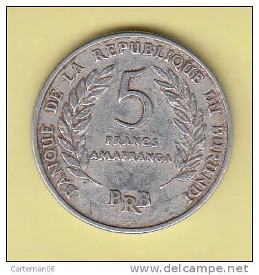 Pièce - Banque De La République Du Burundi - 5 Francs - 1969 - Burundi