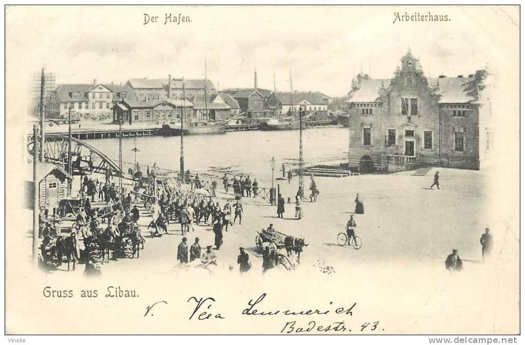 Réf : D-13-374 : Gruss Aus Libau - Lettonie
