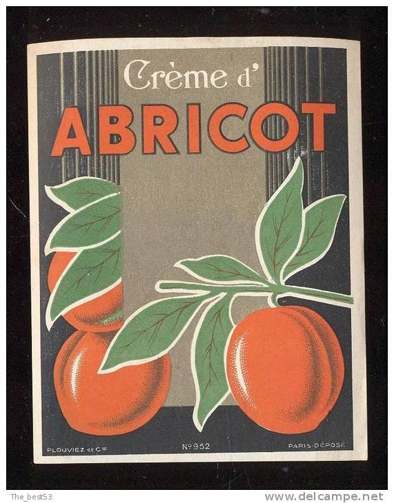 Etiquette  De  Crème  D' Abricot - Etichette