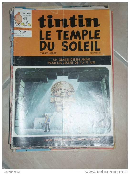 TINTIN JOURNAL DE TINTIN  N°1094  ILLUSTRATION COUVERTURE   HERGE - Tintin