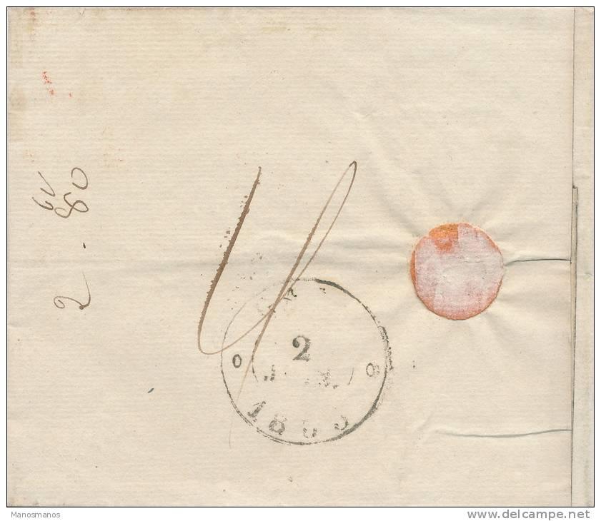 627/20 - Lettre Précurseur 1835 TOURNAY PP Franco Vers GAND - 1830-1849 (Belgique Indépendante)