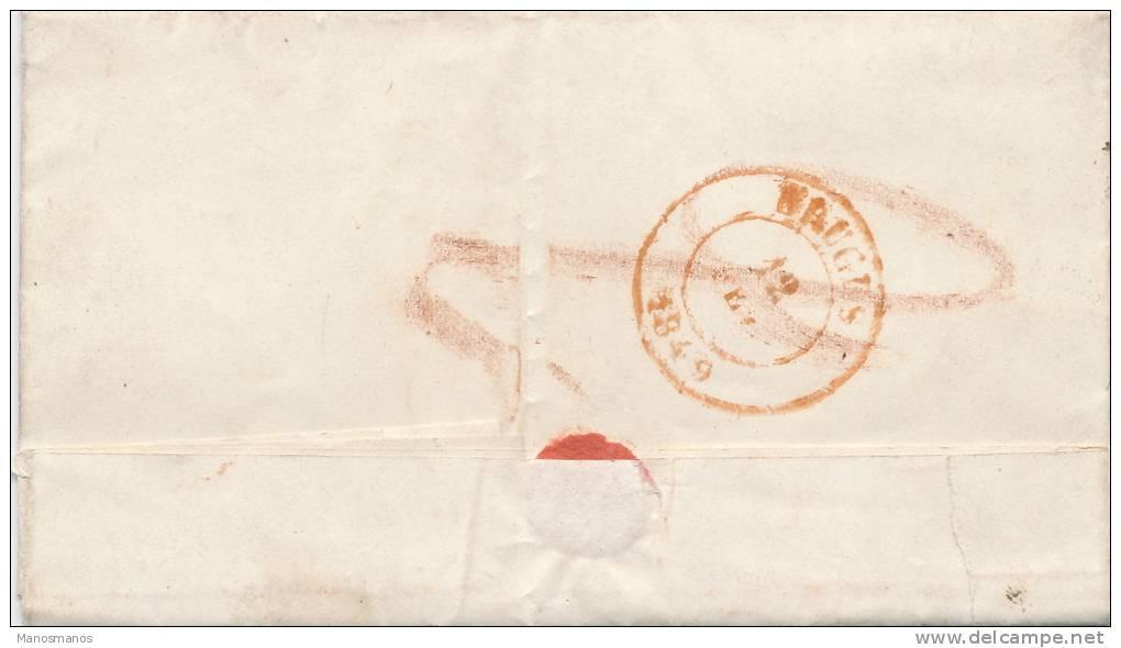 632/20 - Lettre Précurseur En LATIN 1849 ROULERS PP Franco Vers Eveché De BRUGES - Signée Bervoet , Pastor - 1830-1849 (Belgique Indépendante)