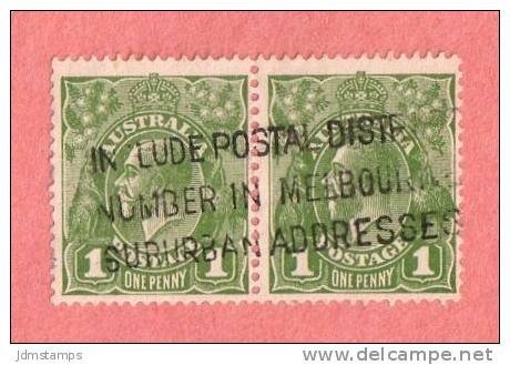AUS SC #114 Used PR  1931 King George V  W/slogan Cancel - Used Stamps