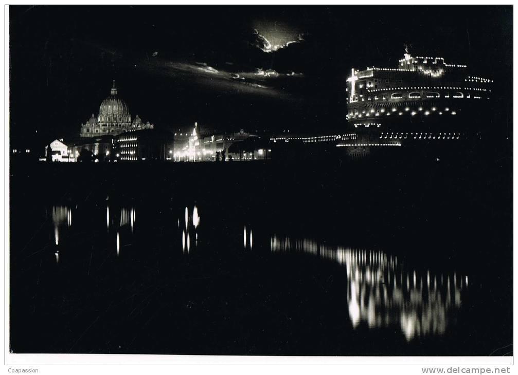 VATICAN  - CITTA DEL VATICAN -Castel S.Angelo - Cpsm -circulée 1954-Beau Timbre -SCANS RECTO VERSO - Vatican