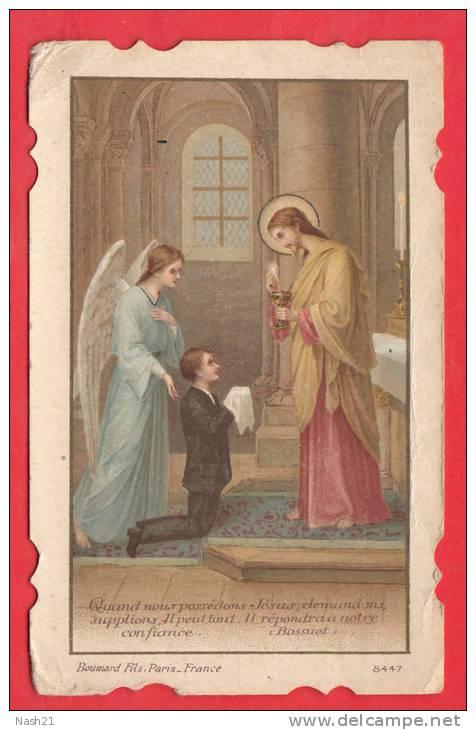1932 - Souvenir De Communion Solennelle - 60 Mm X 95 Mm - - Religion & Esotérisme