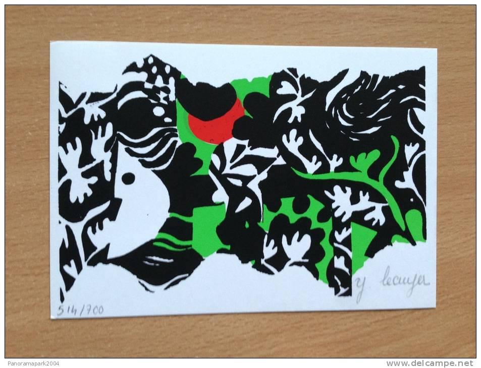 """CP Moderne Numérotée 514/700 Avec Signature """"J. Lecuyer"""" - BIENNALE DE L´ESTAMPE EPINAL VOSGES (88) 5&6.6.1971 - Illustrators & Photographers"""