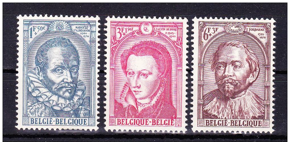 BELGIUM  1964 , Gospel  Community   125 Years  ,  Y&T #  1287/9 , Cv  1.25  E ,   ** M N H , V V F - Belgium