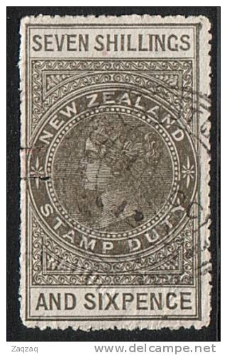 NEW ZEALAND QV 1880 Stamp Duty 7/6d  Fine Used ..................... .17484 - New Zealand