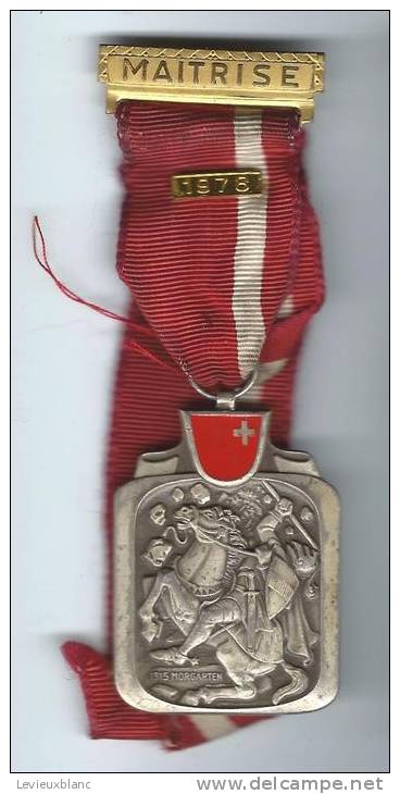 SUISSE/ Médaille/ Sport/Maitrise/1315 Mogarten/ Kramer / NEUCHATEL/1978     SUI24 - Sports
