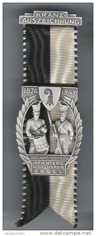 SUISSE/ Médaille/ Sport/TIR/Jubilee/BALE/Inbfan Terie/1949     SUI26 - Sports