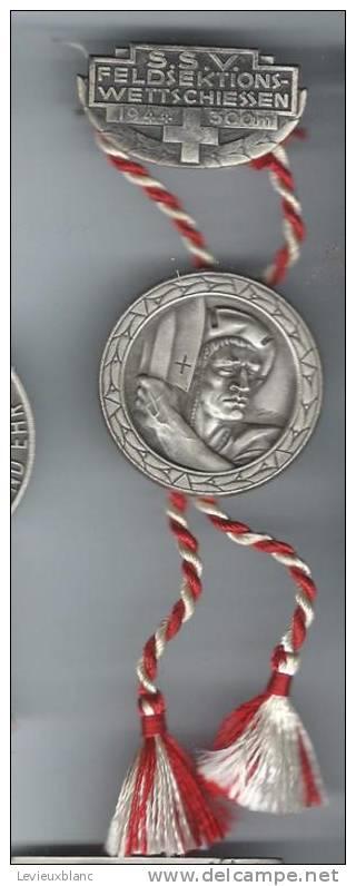 SUISSE/ Médaille/ Sport/TIR/Feldsektions/Wettschiessen/300 M/Huguenin/Le Locle/1944          SUI30 - Sports