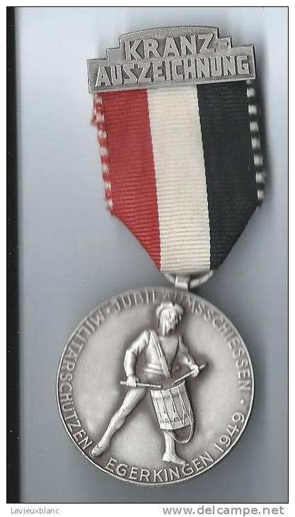 SUISSE/ Médaille/ Sport/TIR/Kranzauszeichnung/Tambour/EGERKINGEN/Soleure/Huguenin Le Locle/1949 SUI42 - Sports