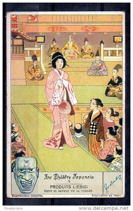 Chromo - Liebig - Le Théâtre Japonais N°1 - Liebig