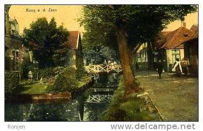 Koog Aan De Zaan - Hoogstraat Met Wegsloot Anno 1900 - Autres Collections