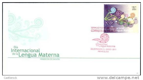 O) 2013 MEXICO, MEXICO INTERNATIONAL DAY OF SPANISH LANGUAGE, EDUCATION, INSTITUTIONS, FDC MNH - Mexico