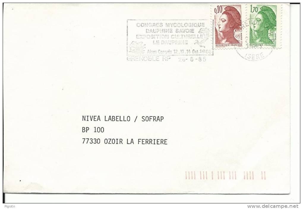 MF697 -MARCOFILIA -CONGRES MYCOLOGIQUE - GRENOBLE - FRANCIA -26.8.1985 -TEMATICA FUNGHI - France