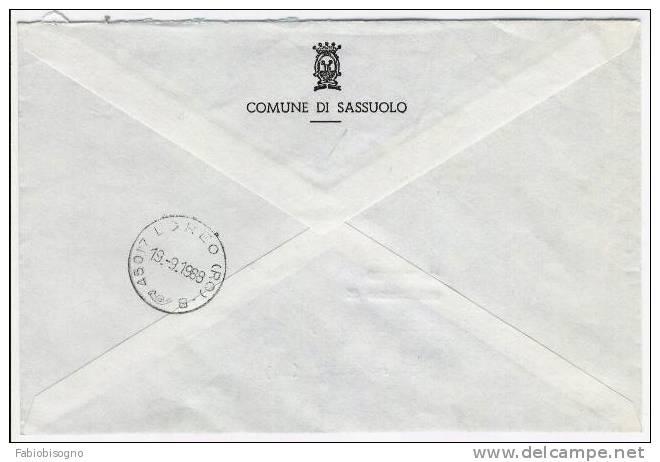 1988 - Comune Di Sassuolo - 1981-90: Storia Postale
