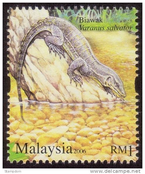 MALAYSIA 2006 Monitor Lizard Varanus Salvator MNH [RM483] - Rettili & Anfibi