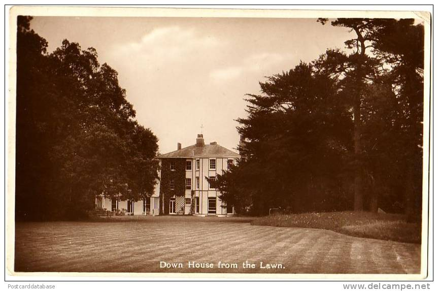 Down House From The Lawn - Darwin's House At Downe - London Suburbs