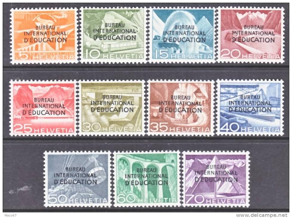 Switzerland 4 O 29-39   *    BUREAU Of  EDUCATION - Dienstzegels