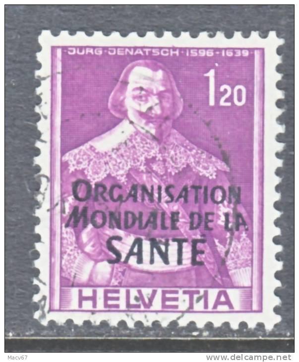 Switzerland 5 O 20   (o)    WHO   ORG. MONDIALE De La  SANTE - Officials