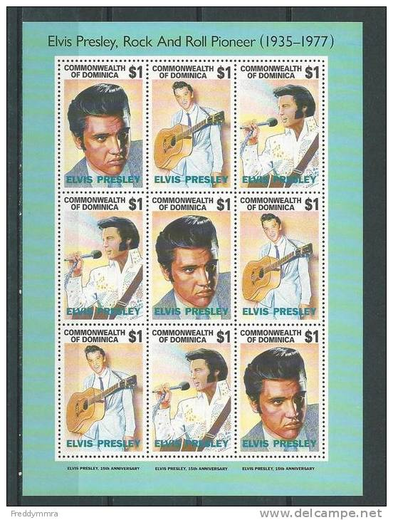 Commonwealth Of Dominica: Michel - 1656/ 1658 ** En Feuillet - Elvis Presley