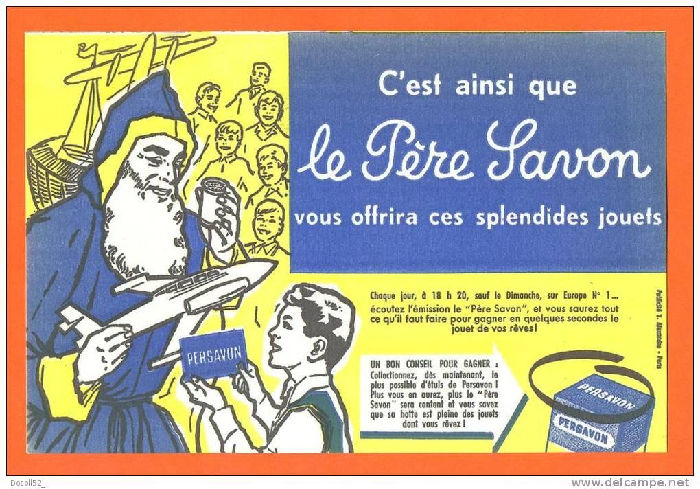 """Buvard  """"  Le Pere Savon  """"  Pere Noel - Jouets - Parfums & Beauté"""