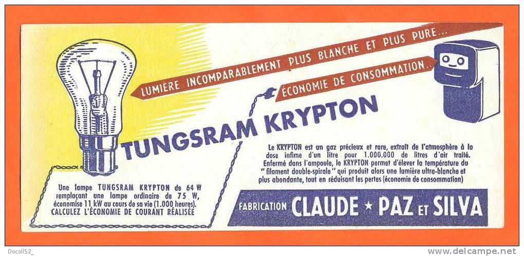 """Buvard  """"  Ampoule Tungsram Krypton  """" Claude - Paz Et Silva - Electricité & Gaz"""