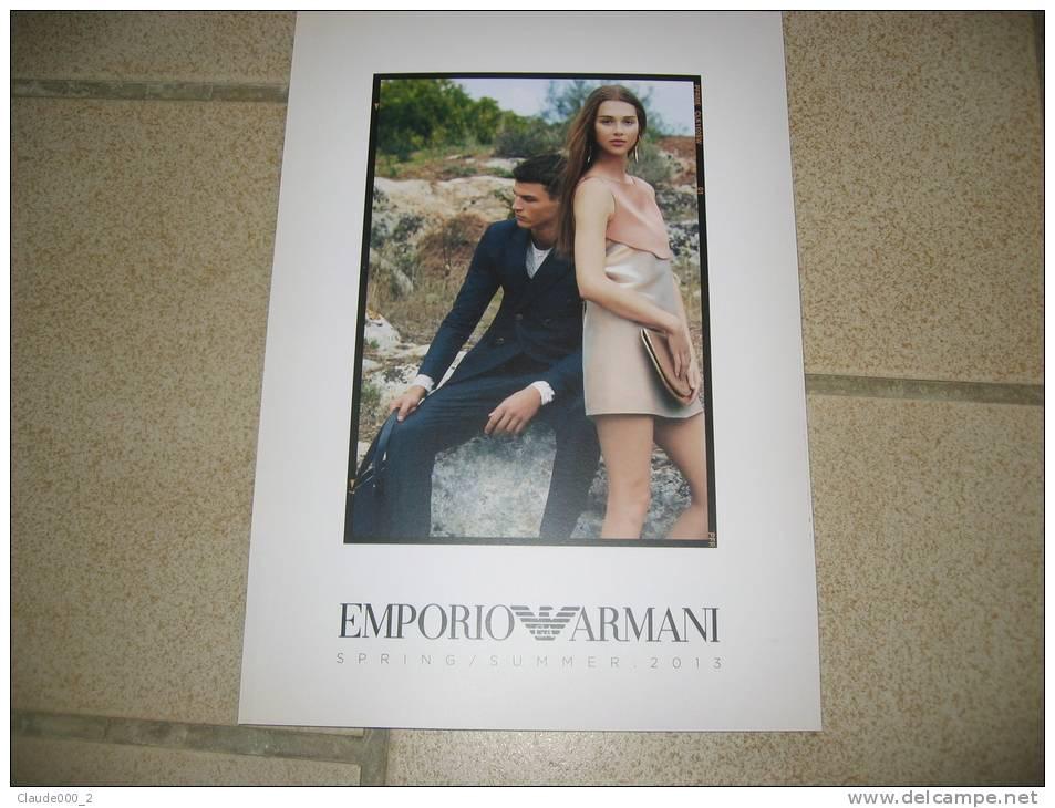 CATALOGUE 50 P. PRINTEMPS / ETE 2013 EMPORIO ARMANI Avec DVD DEFILE DE MODE - Catalogues