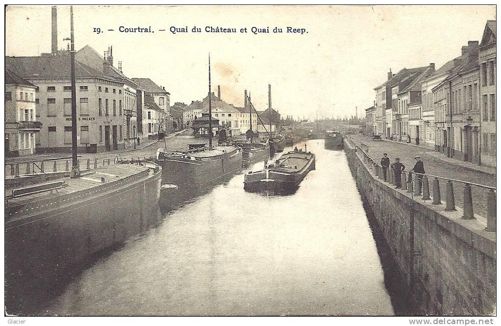 COURTRAI - Quai Du Château Et Quai Du Reep - Péniches - Binnenship - N° 19 Photo H.Bertels - Kortrijk