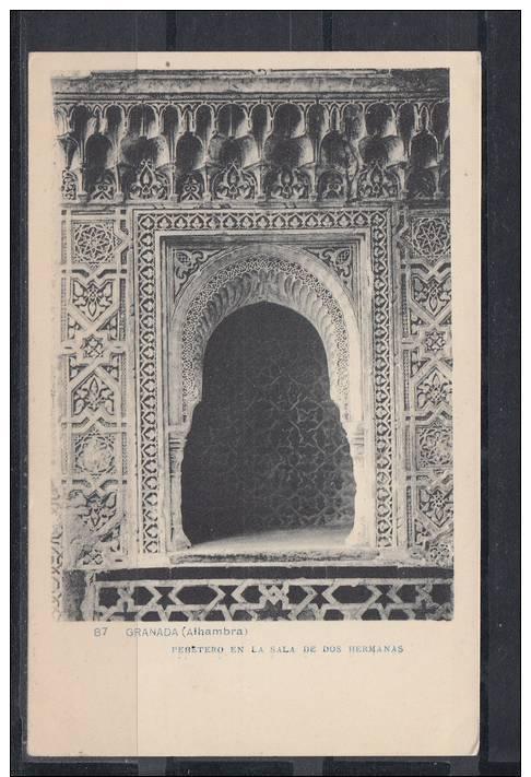 GRANADA. ALHAMBRA.PEBETERO EN LA SALA DE DOS HERMANS  . NO  CIRCULADA 1915 - Granada