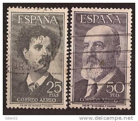 ES1164-L2907TARSC.Espagne . Spain.Espagne.FORTUNY (pintor) Y T. QUEVEDO (escritor).1955/6 (Ed 1164/51º) Circulados LUJO - Sin Clasificación