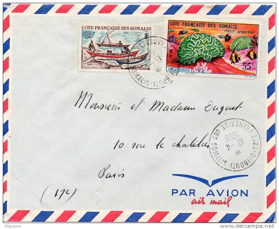 Jolie Lettre Par Avion Annee 1966 - Lettres & Documents