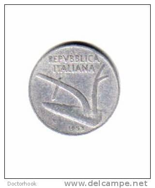 ITALY    10  LIRE  1953  (KM # 93) - 1946-… : Republic
