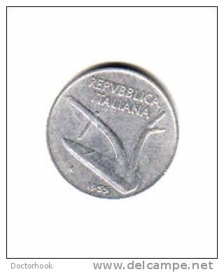 ITALY    10  LIRE  1955  (KM # 93) - 1946-… : Republic