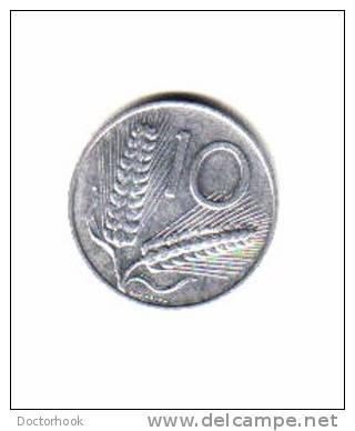 ITALY    10  LIRE  1956  (KM # 93) - 10 Lire