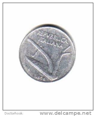 ITALY    10  LIRE  1956  (KM # 93) - 1946-… : Republic