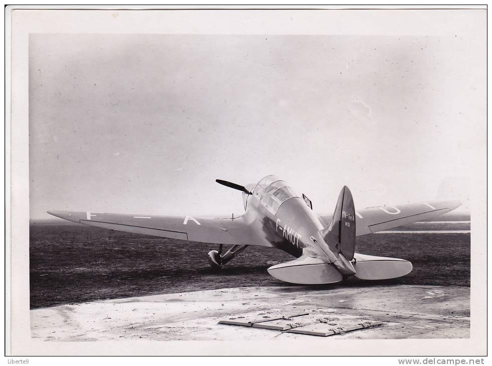 Avion Prototype 1933 Maillet André - Nenning Edmond Pilot - Mécanicien Aviateur  Type F-AMUT MN A N°01 - Photo 2 Scanns - Aviation