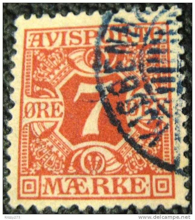 Denmark 1907 Newspaper Stamp 7ore - Used - 1905-12 (Frederik VIII)