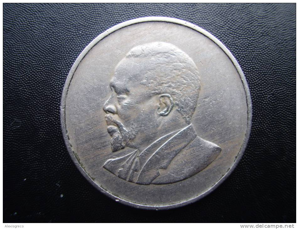 KENYA 1968  ONE SHILLING  KENYATTA Copper-Nickel  USED COIN In GOOD CONDITION. - Kenya