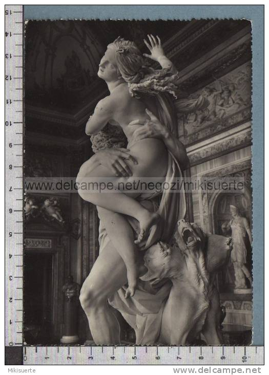 S1726 ARTE PLUTONE RAPISCE PROSERPINA OPERA DI GIAN LORENZO BERNINI DA NAPOLI ROMA MUSEO BORGHESE VG - Sculptures