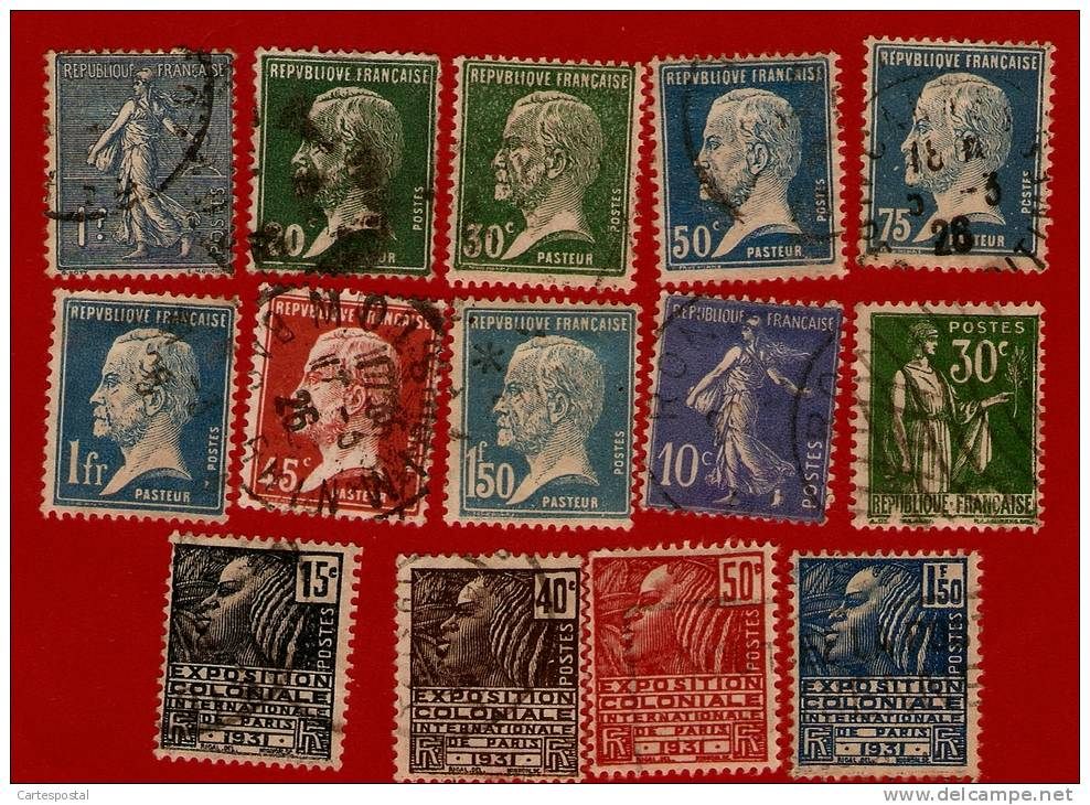 1989  >> Lots De 10 Timbres De FRANCE  +  Série N°  270 / 3  Oblitérés - Collections