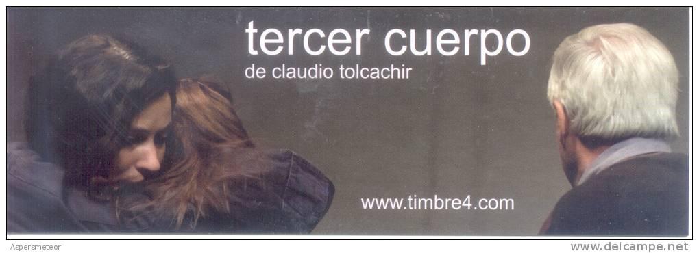 TERCER CUERPO DE CLAUDIO TOLCACHIR SEÑALADOR MARCAPAGINAS TEATRO TIMBRE 4 CON EL FESTIVAL SANTIAGO A MIL CHILE - Marque-Pages