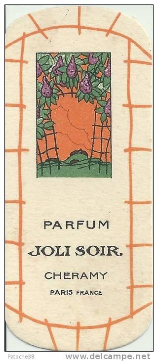 Carte Parfumée - Parfum JOLI SOIR - CHERAMY Paris France - Perfume Cards